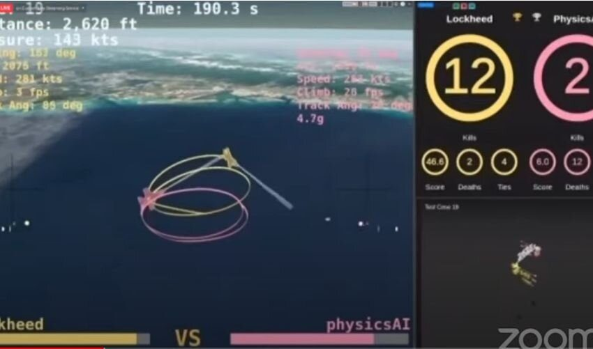 Heron AI prevails over human in air combat