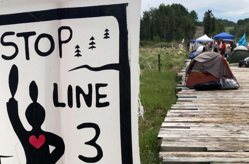 Line 3 Water Protectors Launch Occupation at Mississippi River Pipeline Easement